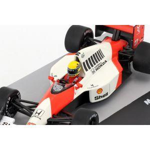 Ayrton Senna McLaren MP4/5B #27 Champion du Monde Grande-Bretagne GP Formule 1 1990 1/43