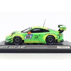 Manthey Racing Porsche 911 (991) GT3 R #912 Vainqueur 24h Nürburgring 2018 1/43