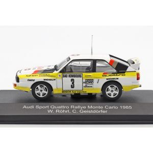 Röhrl, Geistdörfer Audi Sport Quattro #3 2º Rallye Monte Carlo 1985 1/43