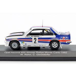 Röhrl, Geistdörfer Opel Ascona 400 #2 Vainqueur du Rallye Monte Carlo 1982 1/43