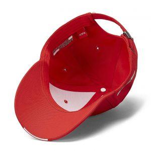 Scuderia Ferrari Cap Scudetto Carbon Strip rosso