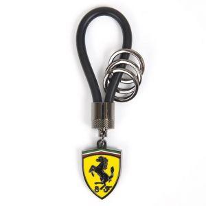 Scuderia Ferrari Kautschukband Schlüsselanhänger schwarz