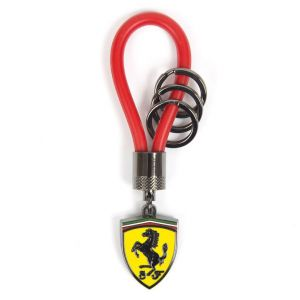 Scuderia Ferrari Kautschukband Schlüsselanhänger rot