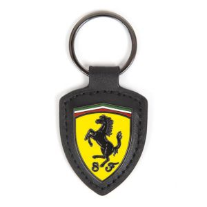 Scuderia Ferrari Leather Fob Keyring