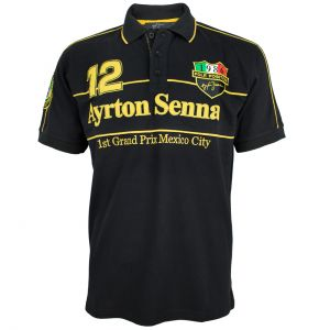 Ayrton Senna Polo-Shirt Mexico GP