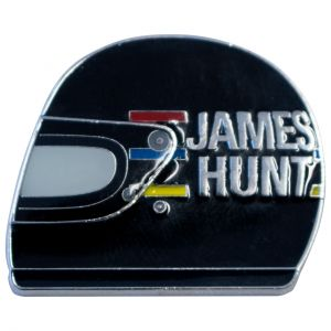 James Hunt casco distintivo 1976