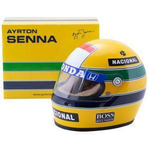 Casco Ayrton Senna 1988 escala 1/2