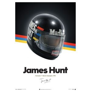 James Hunt - Casco - 1976 Poster