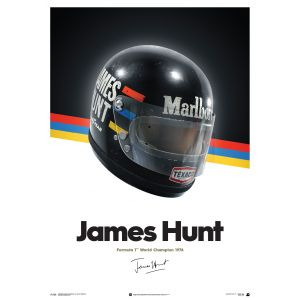 James Hunt - Casco - 1976 - Póster