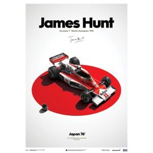 James Hunt - McLaren M23 - Japan - Japanese GP - 1976 - Limited Poster