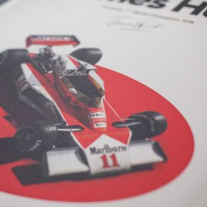 James Hunt - McLaren M23 - Japón - GP japonés - 1976 - Cartel limitado
