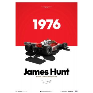 James Hunt - McLaren M23 - Marlboro - GP de Japón - 1976 - Limited Poster