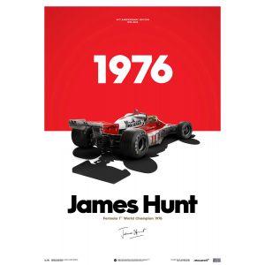 James Hunt - McLaren M23 - Marlboro - GP du Japon - 1976 - Affiche limitée