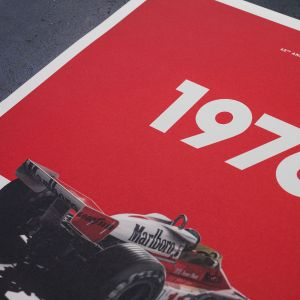 James Hunt - McLaren M23 - Marlboro - GP del Giappone - 1976 - Poster limitato
