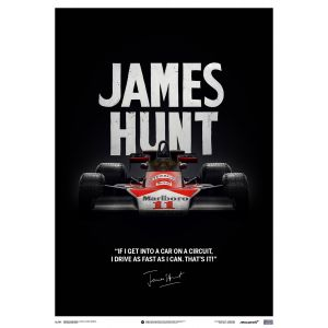 James Hunt - McLaren M23 - Preventivo - GP del Giappone - 1976 - Poster limitato