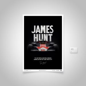 James Hunt - McLaren M23 - Zitat - Japan GP - 1976 - Limited Poster