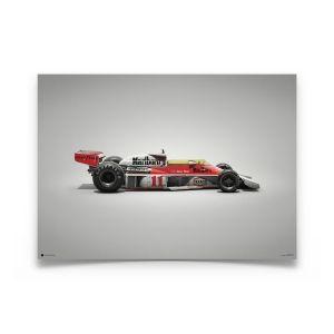 James Hunt - McLaren M23 - GP du Japon - 1976 - Affiche Couleurs de vitesse