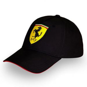 Scuderia Ferrari Cap Scudetto Carbon schwarz