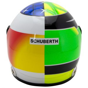Mick Schumacher Miniatur Replica-Helm Belgien Spa 2017 in 1:2