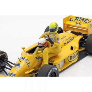 Lotus 99T Senna auf S. Nakajimas Lotus