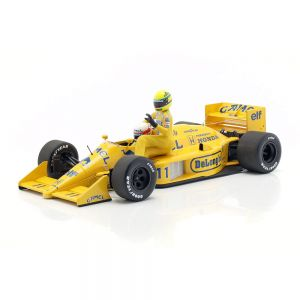 Ayrton Senna riding on S. Nakajimas Lotus 99T #11 Italian GP F1 1987 1:18