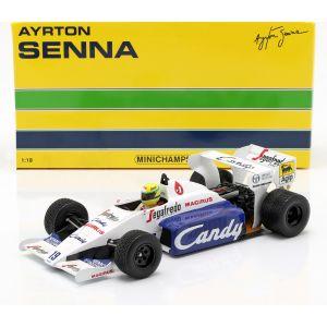 Ayrton Senna Toleman Hart TG183B Formula 1 Monaco GP 1984 1/18