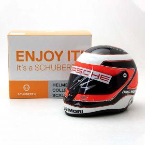 Nico Hülkenberg miniature helmet Le Mans 2015 signed 1/2