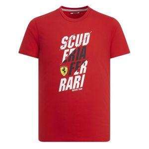Scuderia Ferrari Grafik T-Shirt rot