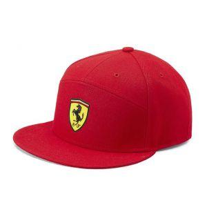 Scuderia Ferrari Gorra Borde plano rojo