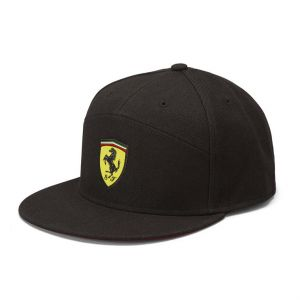 Gorra Visera plana negra Escuderia Ferrari