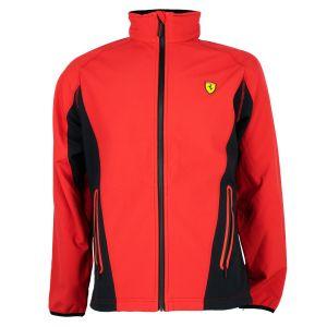 Scuderia Ferrari Giacca Softshell rosso-nero