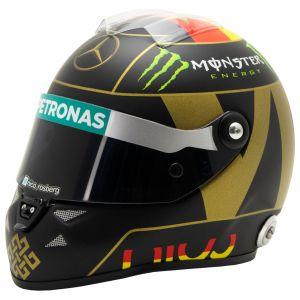 Casque miniature Nico Rosberg GP d'Allemagne 2014 1/2