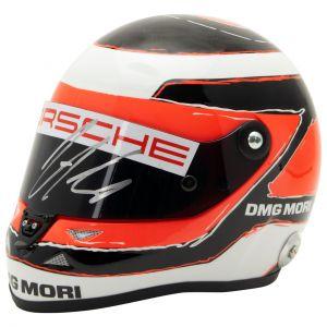 Casco Nico Hülkenberg miniatura Le Mans 2015 firmado 1/2