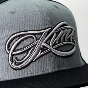 Kimi Räikkönen Cap Script Logo Flatbrim grau