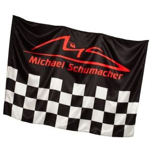 Michael Schumacher Fahne Chequered