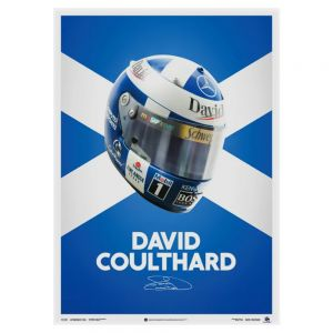 David Coulthard Casco Poster 2000