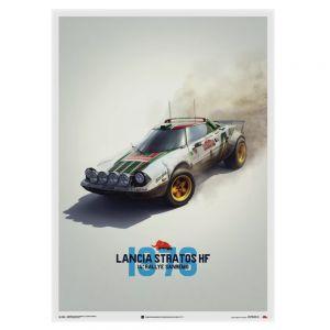 Lancia Stratos HF Poster - blanco - Alitalia - Sanremo - 1976