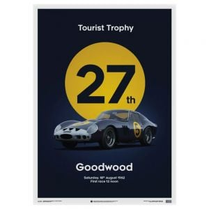 Ferrari 250 GTO Poster - dark blue - Goodwood TT - 1962