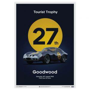 Ferrari 250 GTO Poster - dunkelblau - Goodwood TT - 1962