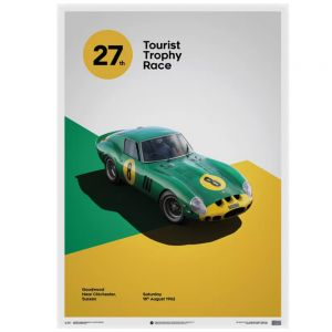 Ferrari 250 GTO Poster - green - Goodwood TT - 1962