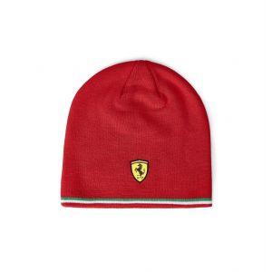 Scuderia Ferrari Casquette en tricot rouge