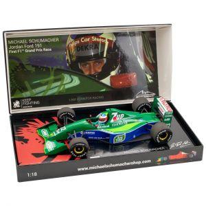 Michael Schumacher Jordan Ford 191 First F1™ Grand Prix Race Spa 1991 1/18