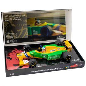 Michael Schumacher Benetton Ford B192 Vincitore del GP del Belgio 1992 1:18