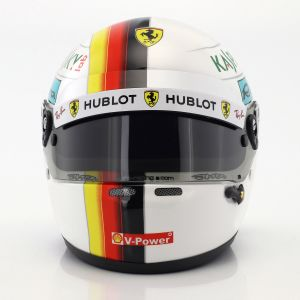 Sebastian Vettel casco miniatura Ferrari SF71H Formula 1 2018 1:2
