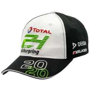 24h-Rennen Cap Sponsor 2020 weiß