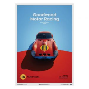 Ferrari 250 GTO Poster - red - Goodwood TT - 1963