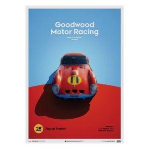 Ferrari 250 GTO Poster - rojo - Goodwood TT - 1963