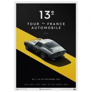 Cartel Ferrari 250 GTO - Plata - Tour de Francia - 1964