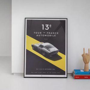 Poster Ferrari 250 GTO - Silver - Tour de France - 1964