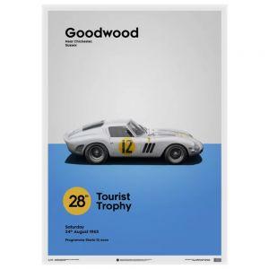 Poster Ferrari 250 GTO - biancho - Goodwood TT - 1963